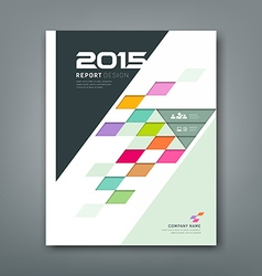 Cover annual report colorful square pattern bevel vector image vector image