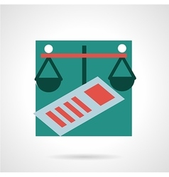 Finance flat icon vector