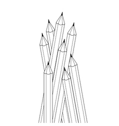 Group of contour drawing black and white color vector