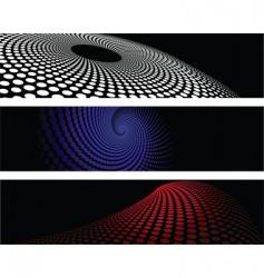 halftone designs vector image vector image