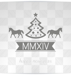 Happy Christmas greeting with symbols coming year vector image vector image