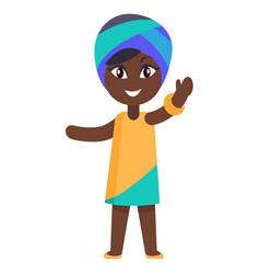 happy little afro-american girl in yellow dress vector image vector image