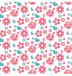 Happy valentine s day seamless pattern cute vector