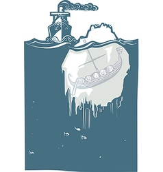 Iceberg Viking vector image