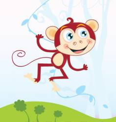 jungle monkey vector image