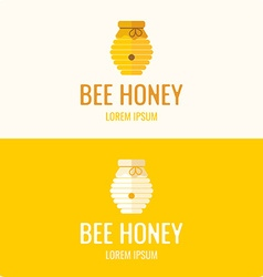 Logo bee honey vector image vector image
