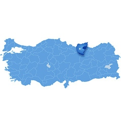 Map of turkey giresun vector
