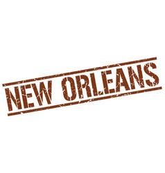 New orleans brown square stamp vector