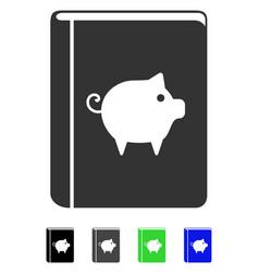 Pig handbook flat icon vector
