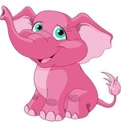 Pink elephant vector