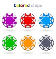 Poker Chips in Colors vector image vector image