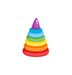 pyramid toy flat isolated vector image vector image