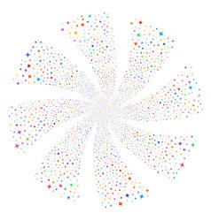 Shine stars fireworks swirl flower vector