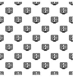 Soccer scoreboard pattern vector