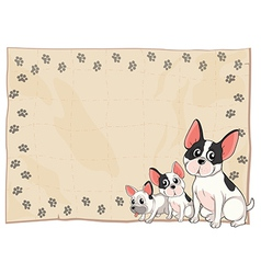 The three puppies vector image vector image
