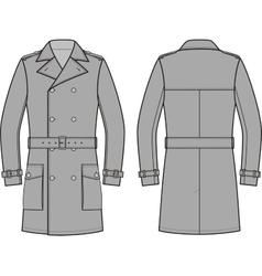 Trench coat for men vector