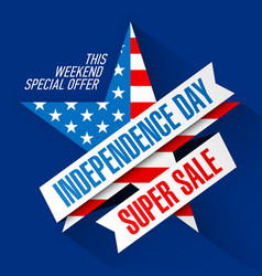usa independence day weekend sale banner design vector image vector image