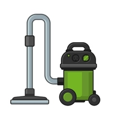 Vacuum Cleaner on White Background vector image vector image