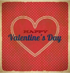 Vintage Valentines Day card with polka dots vector image vector image