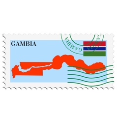 mail to-from Gambia vector image