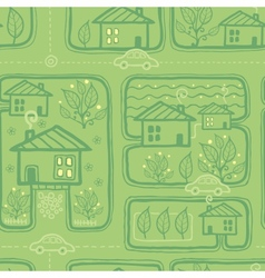 Town streets seamless pattern background vector