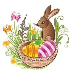 Easter eggs bunny spring vector