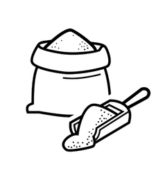Bag flour vector