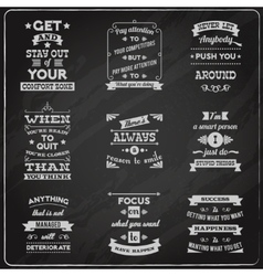 Success quotes set chalkboard vector