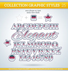 Elegant graphic styles for design use for decor vector