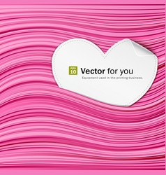 White paper hearts on pink abstract vector