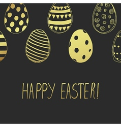 Easter card gold dark vector
