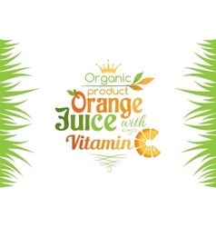 Orange juice with vitamin c banner vector