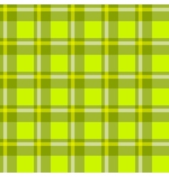 Green checkered cloth vector image