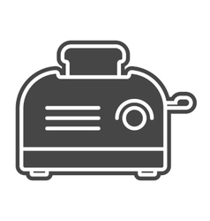 Toaster icon solid gray vector