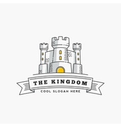 Abstract kingdom label sign or logo vector