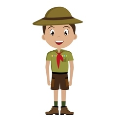 Avatar boy with colorful clothes and hat vector