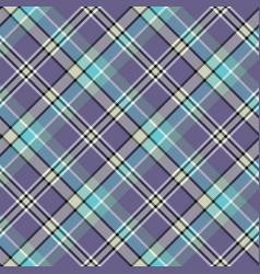 Blue cold color tartan seamless fabric texture vector