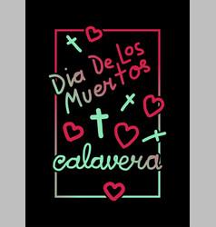 Calavera greeting frame vector