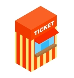 Circus ticketing isometric 3d icon vector image