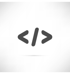 Code Simple Icon vector image