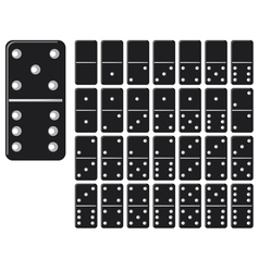 collection of domino set with black spot vector image vector image