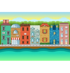 Color urban landscapes and downtown vector image vector image