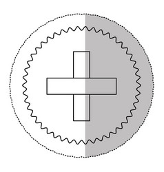 Figure blessed cross cancer defense icon vector