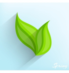 Green leaves in flat style vector