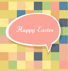 Happy easter mosaic seamless textured pattern vector