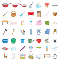 home objects vector image vector image