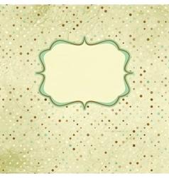 Polka dot Vintage card vector image vector image