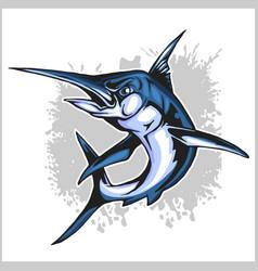 Realistic blue marlin fish vector