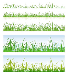 seamless green grass layers vector image vector image