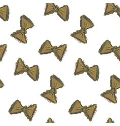 Seamless pattern hand drawn bow tie retro colors vector